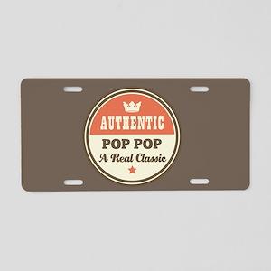 Authentic Pop Pop Classic Aluminum License Plate