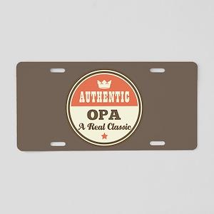 Authentic Opa Classic Aluminum License Plate