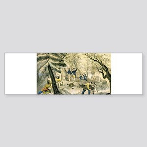 Landing of the Pilgrims at Plymouth - 1856 Sticker