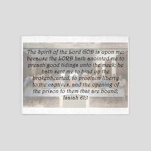 Isaiah 61:1 5'x7'Area Rug