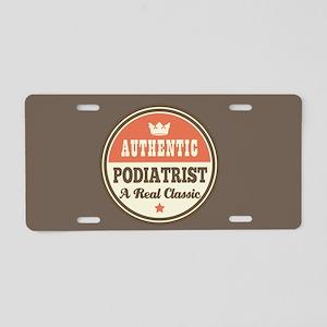 Authentic Podiatrist Aluminum License Plate