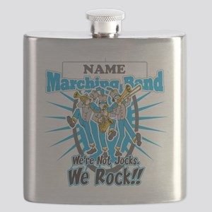 Marching Band Rocks(Light Blue) Flask