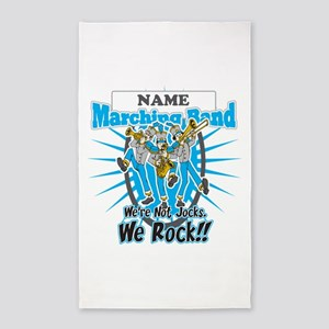 Marching Band Rocks(Light Blue) 3'x5' Area Rug