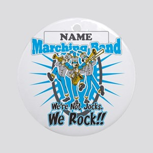 Marching Band Rocks(Light Blue) Ornament (Round)