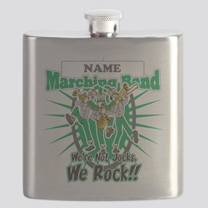 Marching Band Rocks(Green) Flask