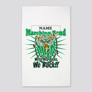 Marching Band Rocks(Green) 3'x5' Area Rug