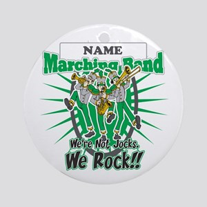 Marching Band Rocks(Green) Ornament (Round)