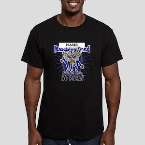 Marching Band Rocks(Blue) Men's Fitted T-Shirt (da