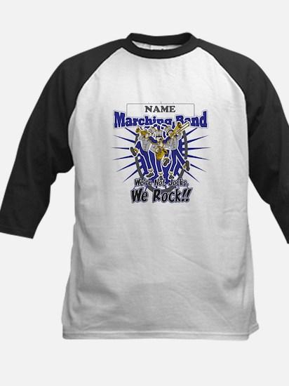 Marching Band Rocks(Blue) Kids Baseball Jersey