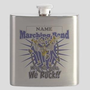 Marching Band Rocks(Blue) Flask