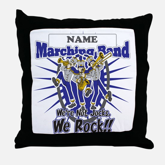 Marching Band Rocks(Blue) Throw Pillow