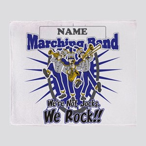 Marching Band Rocks(Blue) Throw Blanket