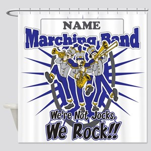Marching Band Rocks(Blue) Shower Curtain