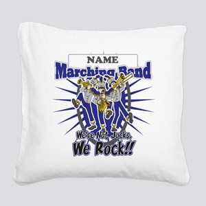 Marching Band Rocks(Blue) Square Canvas Pillow