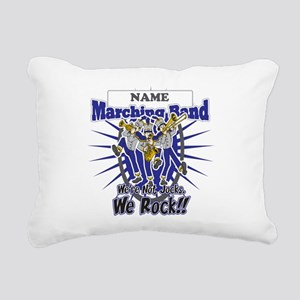 Marching Band Rocks(Blue) Rectangular Canvas Pillo
