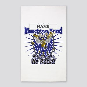 Marching Band Rocks(Blue) 3'x5' Area Rug