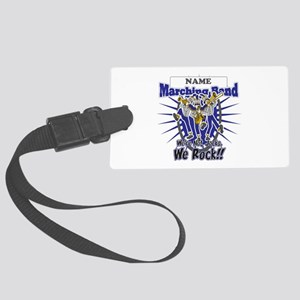 Marching Band Rocks(Blue) Large Luggage Tag