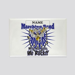 Marching Band Rocks(Blue) Rectangle Magnet