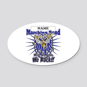 Marching Band Rocks(Blue) Oval Car Magnet