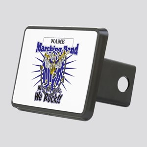Marching Band Rocks(Blue) Rectangular Hitch Cover