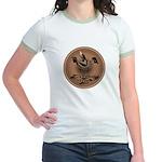 Mimbres Brn Quail Jr. Ringer T-Shirt