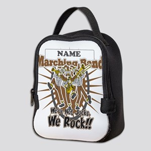 Marching Band Rocks(Brown) Neoprene Lunch Bag