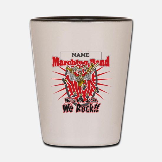 Marching Bands Rock(Red) Shot Glass