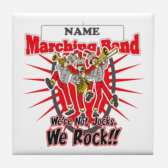 Marching Bands Rock(Red) Tile Coaster
