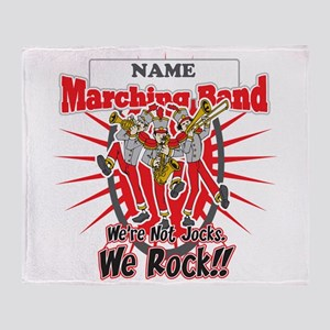 Marching Bands Rock(Red) Throw Blanket