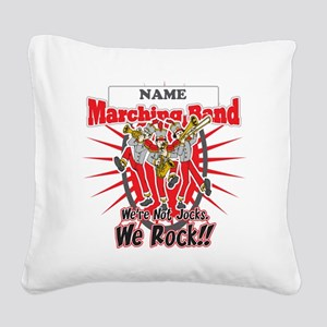 Marching Bands Rock(Red) Square Canvas Pillow