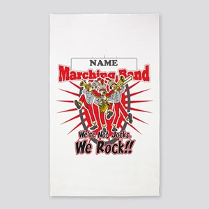 Marching Bands Rock(Red) 3'x5' Area Rug