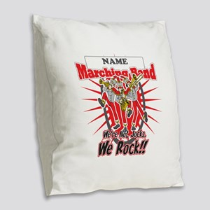 Marching Bands Rock(Red) Burlap Throw Pillow