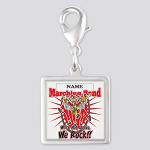Marching Bands Rock(Red) Silver Square Charm