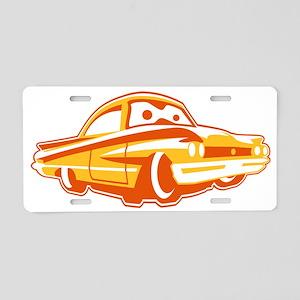 Cartoon-Coupe Aluminum License Plate