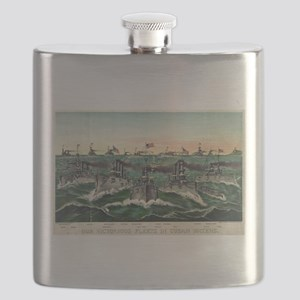 Our victorious fleets in Cuban waters - 1898 Flask