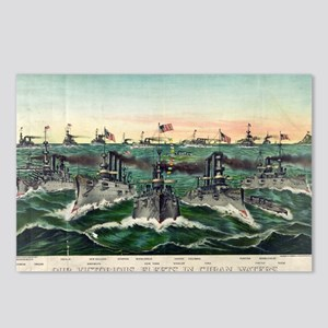 Our victorious fleets in Cuban waters - 1898 Postc