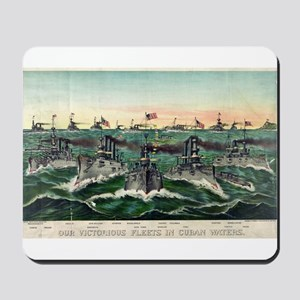 Our victorious fleets in Cuban waters - 1898 Mouse