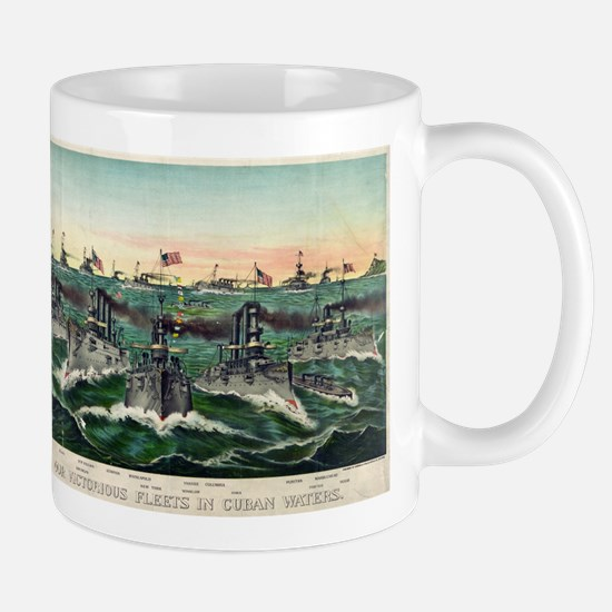 Our victorious fleets in Cuban waters - 1898 Mug