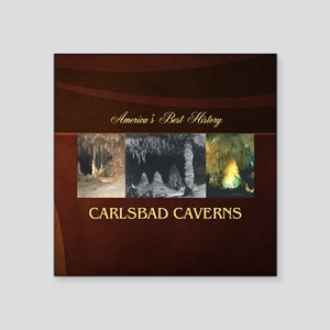 "Carlsbad Caverns Americasbe Square Sticker 3"" x 3"""