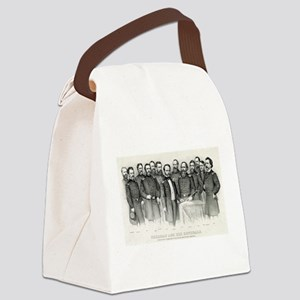 Sherman and his generals - 1865 Canvas Lunch Bag