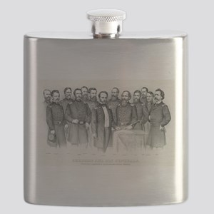 Sherman and his generals - 1865 Flask