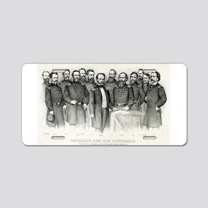 Sherman and his generals - 1865 Aluminum License P