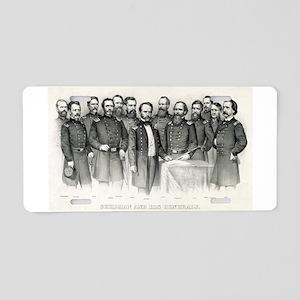 Sherman and his generals - 1865 Aluminum License P