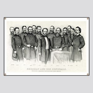 Sherman and his generals - 1865 Banner