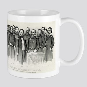 Sherman and his generals - 1865 11 oz Ceramic Mug
