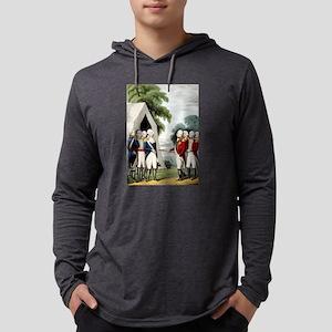 Surrender of Cornwallis - 1845 Mens Hooded Shirt