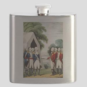 Surrender of Cornwallis - 1845 Flask