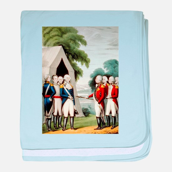 Surrender of Cornwallis - 1845 baby blanket