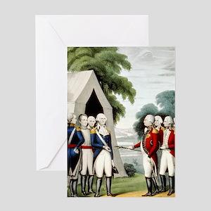 Surrender of Cornwallis - 1845 Greeting Card