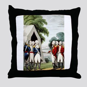 Surrender of Cornwallis - 1845 Throw Pillow